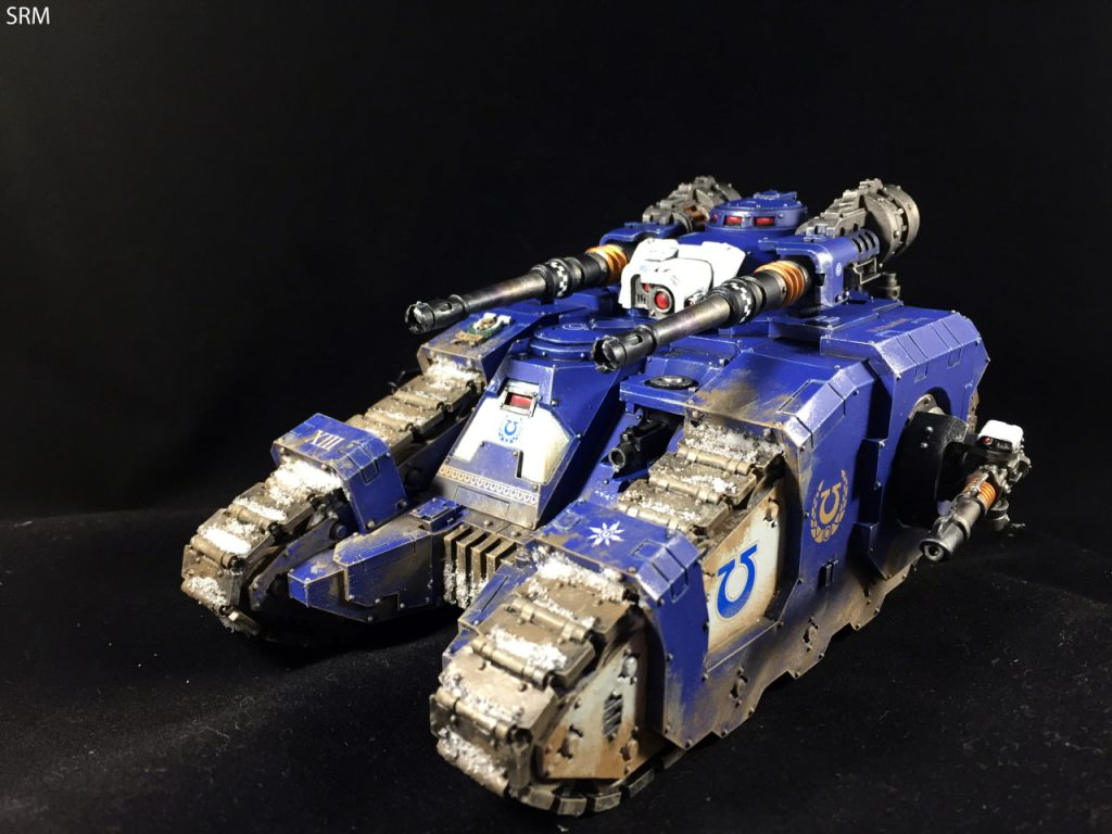 An Ultramarines Sicaran