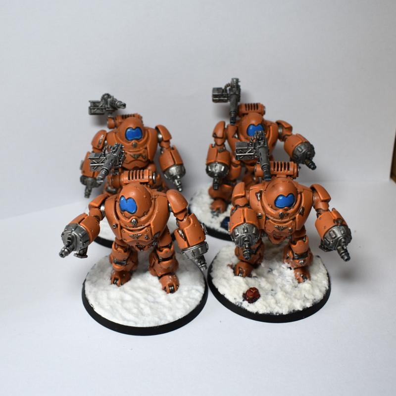 A unit of 4 Kastelan Robots