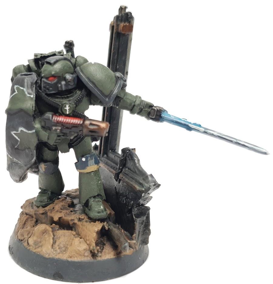 "Space Marine Kill Team Agravain Tactical Marine Leader Painted by Tyler ""Coda"" Moore"