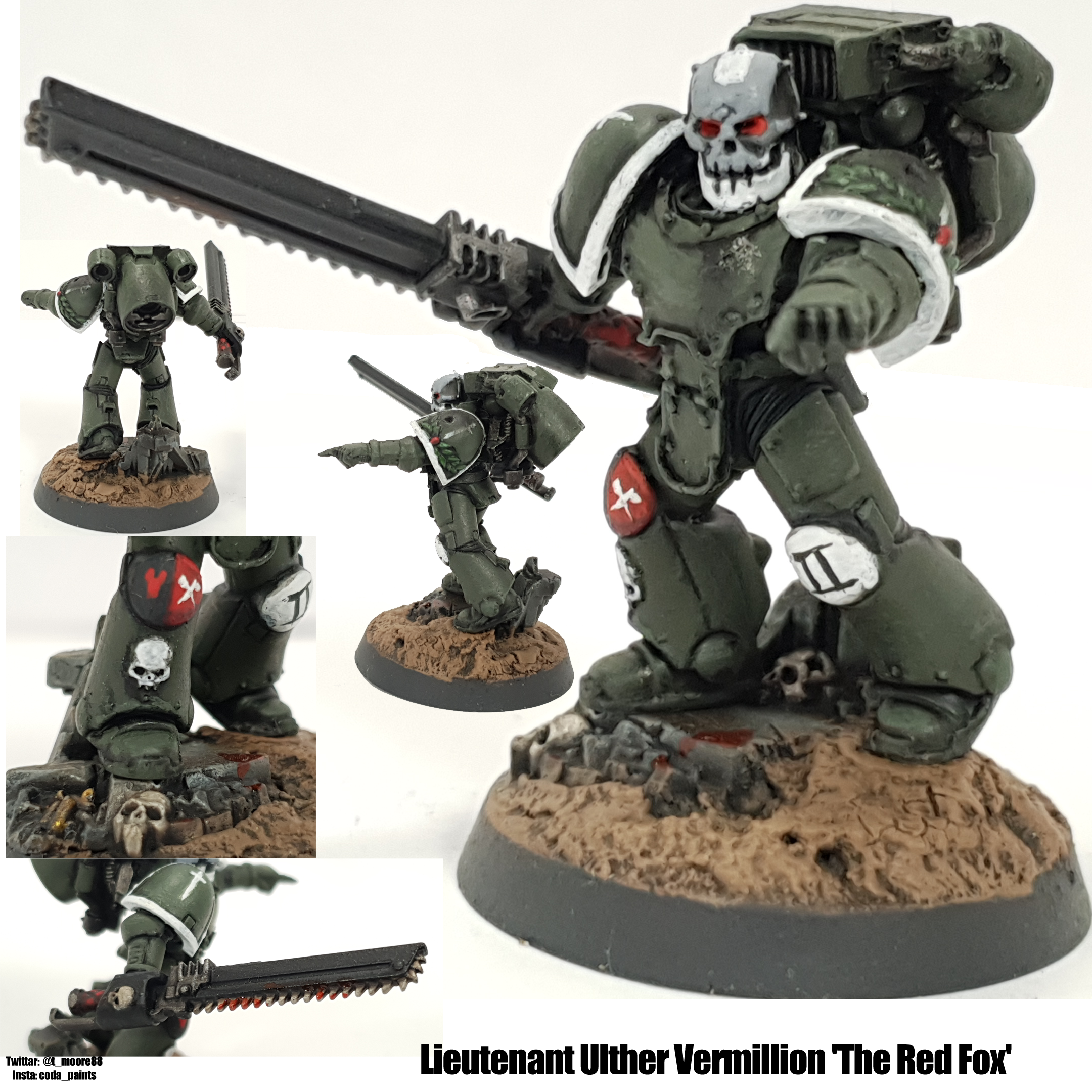 Space Marine Swords of Davion Lieutenant With Jump Pack
