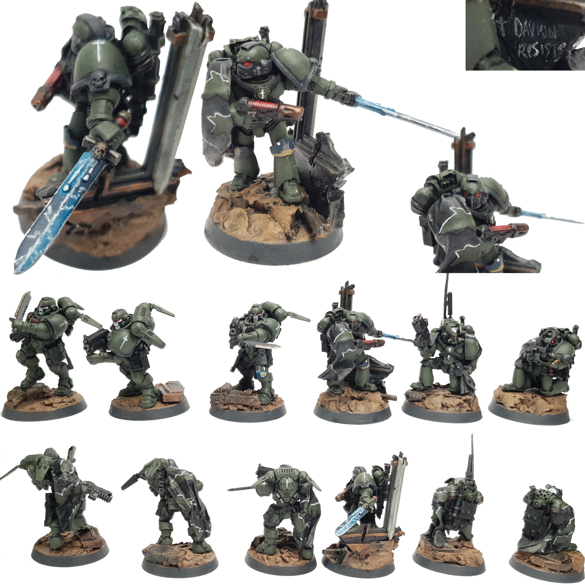 "Space Marine Kill Team Agravain Painted by Tyler ""Coda"" Moore"