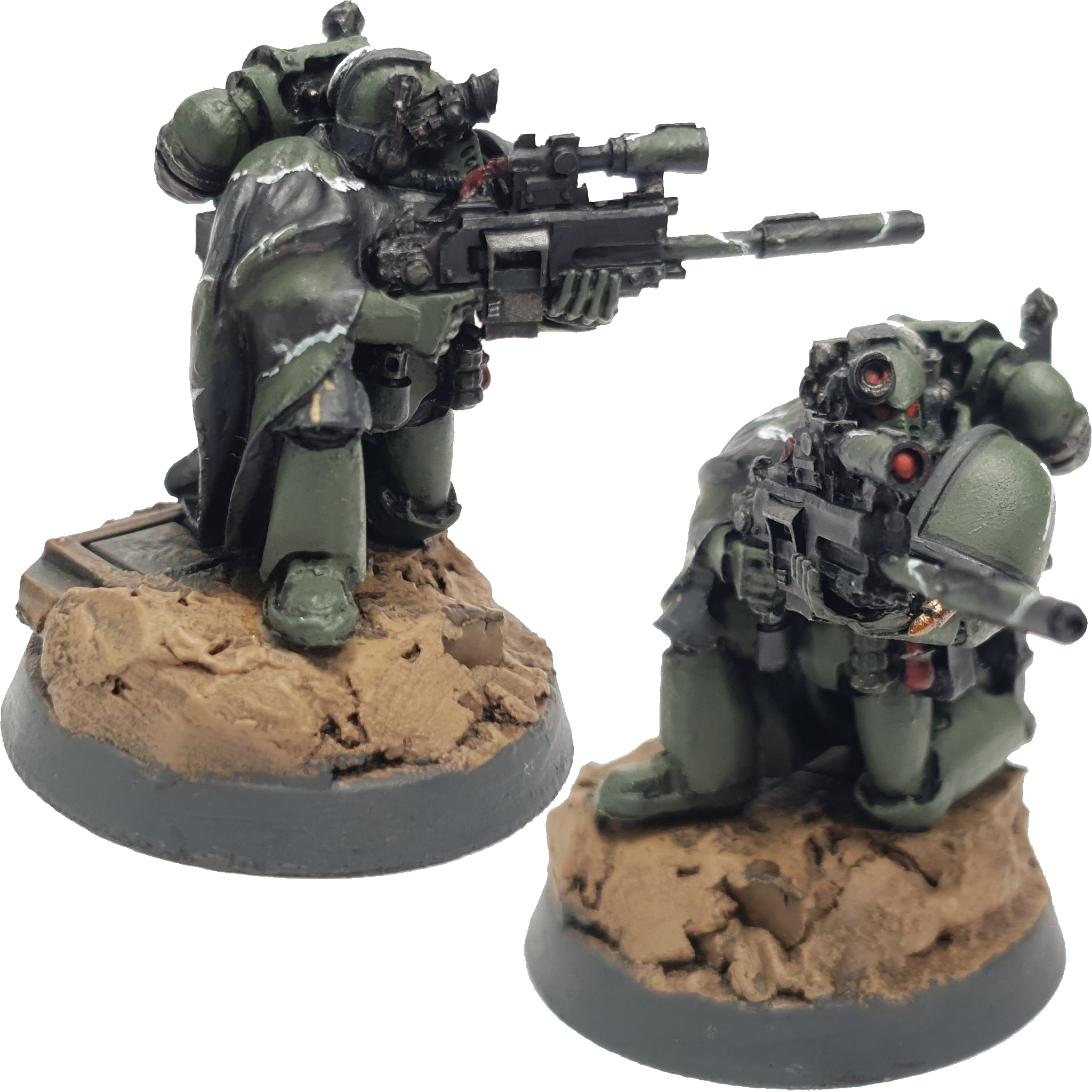 """Space Marine Kill Team Agravain Tactical Marine Sniper Painted by Tyler """"Coda"""" Moore"""