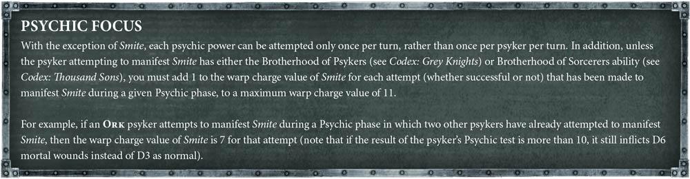Psychic power limitations