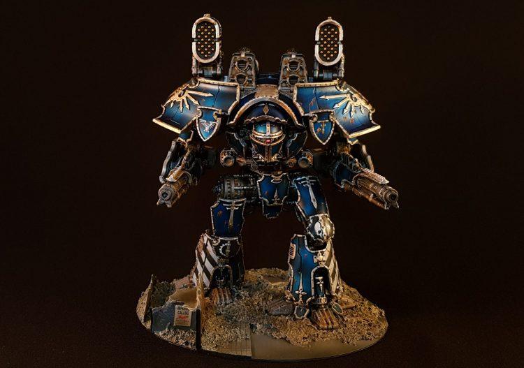 Legio Tempestus Warlord. Credit: @artisans_of_vaul (insta)